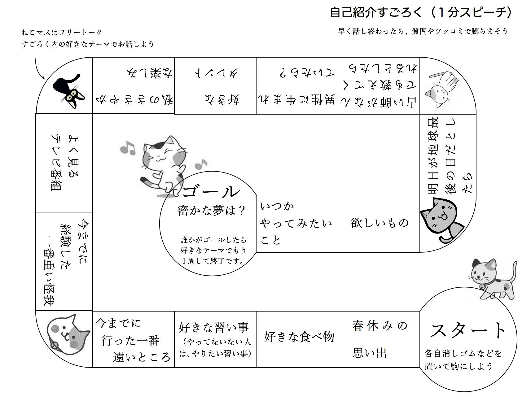 【wordデータ有】自己紹介すごろく【学級びらきのツール】